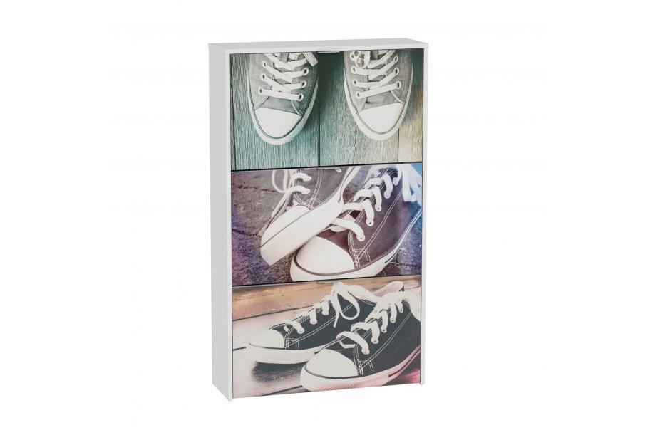 Zapatero 3 trampones moderno y barato blanco/retro sneakers.