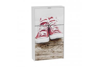 Zapatero 3 trampones moderno y barato blanco/ wood sneakers.