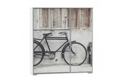 Zapatero 3 trampones y compartimento para botas moderno y barato blanco/bicycle.