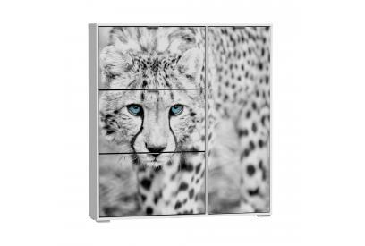 Zapatero 3 trampones y compartimento para botas moderno y barato blanco/cheetah