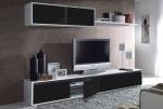 Composición de salón 200cm blanco negro kit