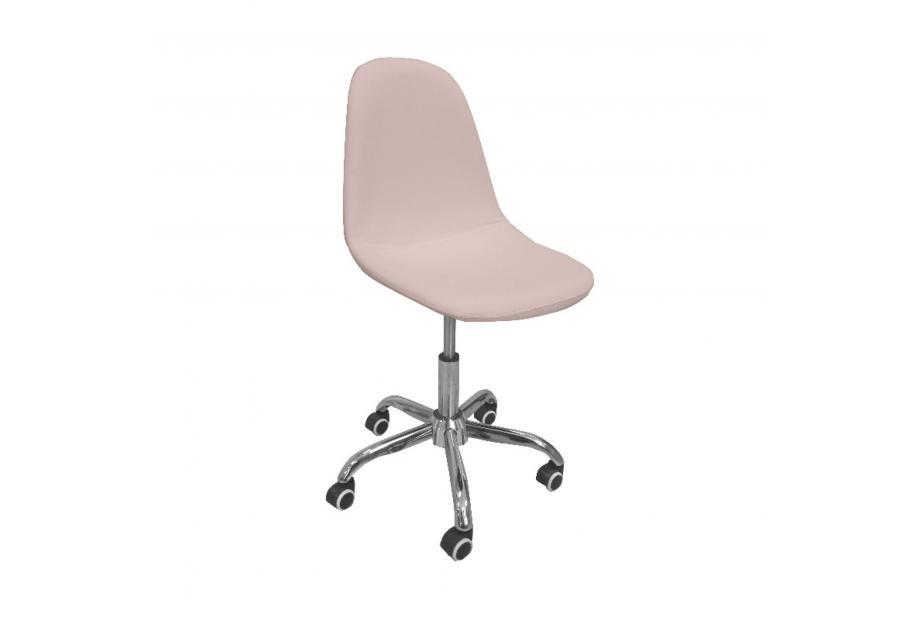 Silla oficina con ruedas moderna y barata tapizado en pu rosa.