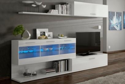 Composición de salón con luces LED según foto