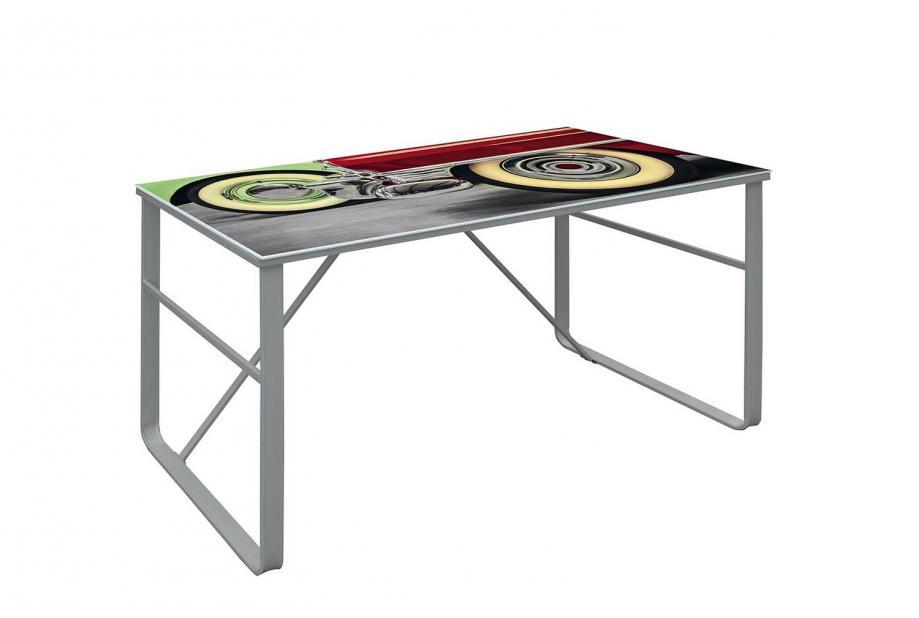 Mesas de oficina liquidatodo mesa de escritorio moderna y barata serigrafiada con estructura - Mesa oficina barata ...