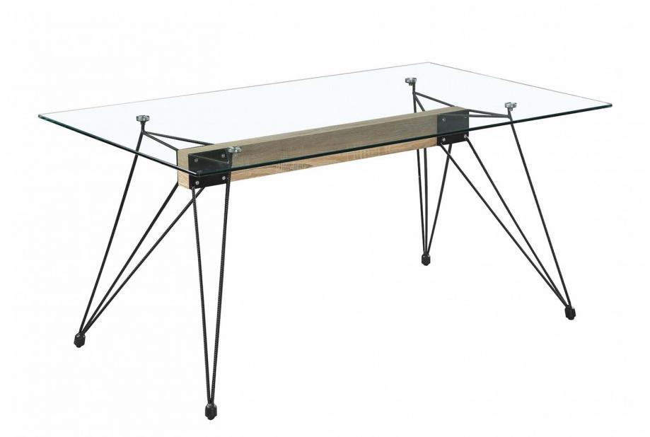 Mesas de comedor liquidatodo mesa de comedor moderna y for Mesas de comedor cristal transparente