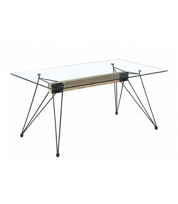 Mesas de comedor liquidatodo mesa de comedor moderna y for Mesa comedor cristal barata