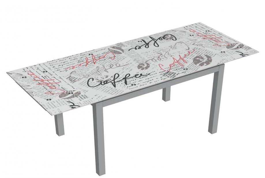 Mesas de cocina - Liquidatodo - Mesa de cristal extensible moderna y ...