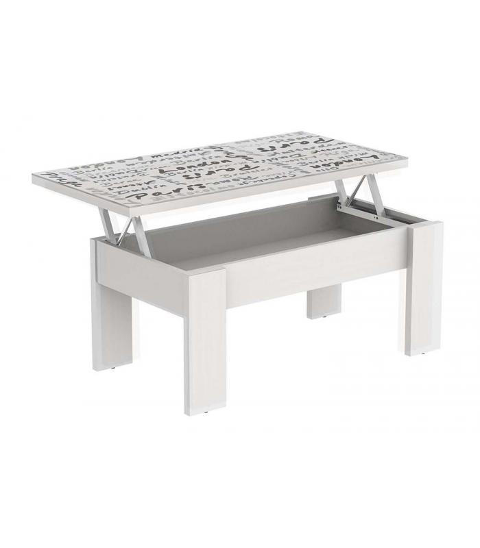 Mesas de centro liquidatodo mesa de centro elevable for Mesa cristal barata