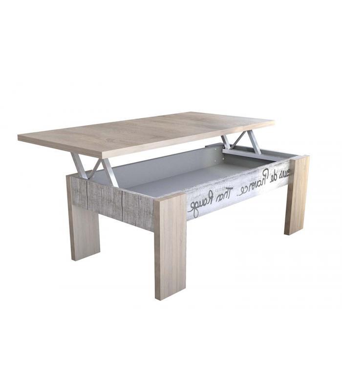 Mesas de centro liquidatodo mesa de centro elevable moderna y barata en color aserrado - Mesa oficina barata ...